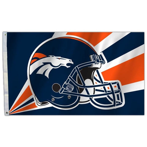 NFL 3' x 5' Team Helmet Flag Denver Broncos by Fremont Die