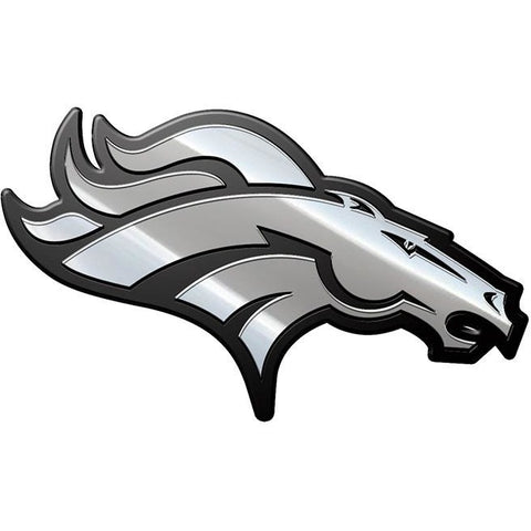 NFL Denver Broncos 3-D Chrome Heavy Metal Emblem By Team ProMark