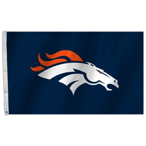 NFL 3' x 5' Team All Pro Logo Flag Denver Broncos Blue Background