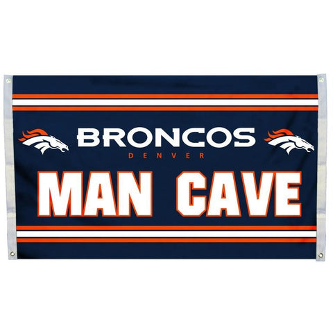 NFL 3' x 5' Team MAN CAVE Flag Denver Broncos