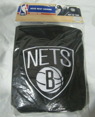 NBA  New Brooklyn Nets Headrest Cover Embroidered Logo Set of 2 by Team ProMark