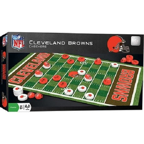 NFL Cleveland Browns Checkers Game by Masterpieces Puzzles Co.