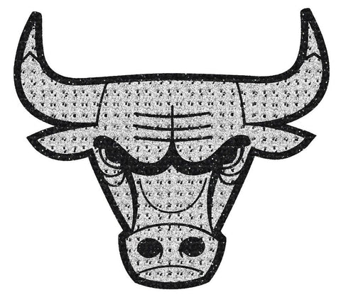 NBA Chicago Bulls Bling Emblem Adhesive Decal By Team ProMark