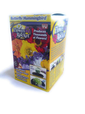 Flower Rocket AS SEEN ON TV Butterfly Hummingbird Kit Over 500 Seeds