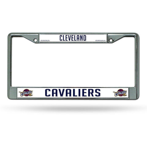 NBA Cleveland Cavaliers Chrome License Plate Frame Thin Letters