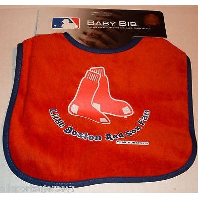 MLB Little Boston Red Soxs Fan Infant Baby Bib Red Black Trim Wincraft