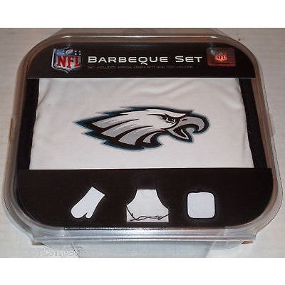 NFL Philadelphia Eagles BBQ Tailgate Kit 3 Piece Set Apron Oven Mitt Potholder McArthur