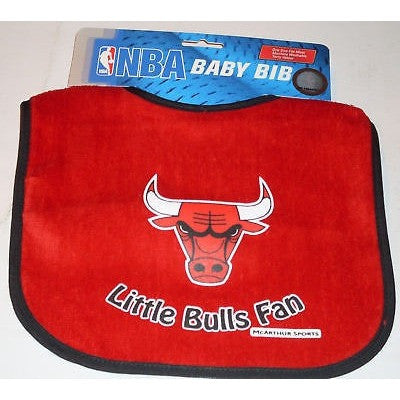 NBA Little Chicago Bulls Fan Infant Baby Bib Red Blue Trim Wincraft
