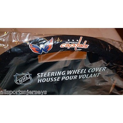 NHL POLY-SUEDE MESH STEERING WHEEL COVER WASHINGTON CAPITALS