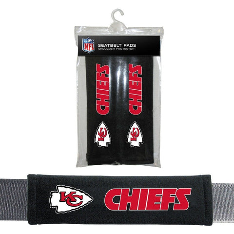 NFL Kansas City Chiefs Velour Seat Belt Pads 2 Pack by Fremont Die