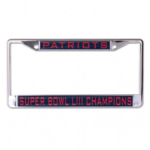 New England Patriots Laser Cut Chrome Frame SUPER BOWL LIII CHAMPIONS WinCraft