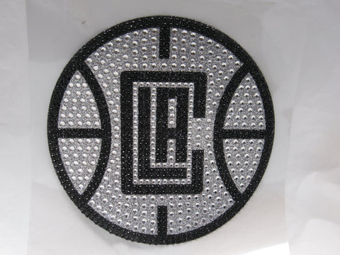 NBA Los Angeles Clippers Bling Emblem Adhesive Decal By Team ProMark