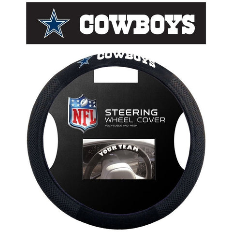NFL Dallas Cowboys Poly-Suede Mesh Steering Wheel Cover by Fremont Die
