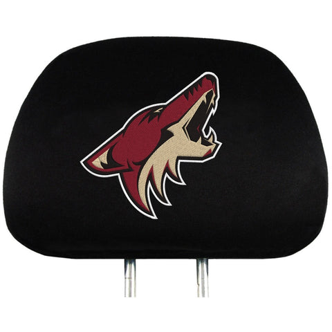 NHL Arizona Coyotes Headrest Cover Embroidered Logo Set of 2 by Team ProMark