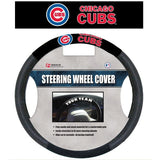MLB POLY-SUEDE MESH STEERING WHEEL COVER CHICAGO CUBS