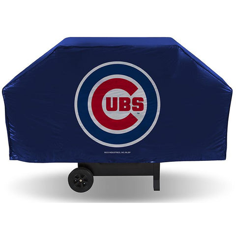 MLB Chicago Cubs 68 Inch Red Vinyl Economy Gas / Charcoal Grill Cover