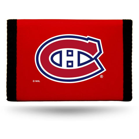 NHL Montreal Canadiens Tri-fold Nylon Wallet with Printed Logo