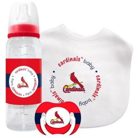 MLB St. Louis Cardinals Gift Set Bottle Bib Pacifier by baby fanatic