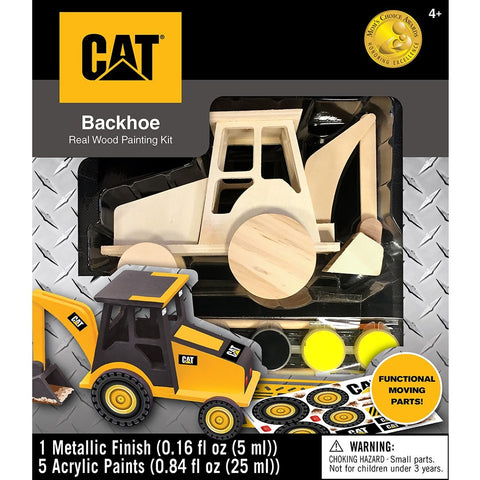 MasterPieces Works of Ahhh... Cat (Caterpillar) Backhoe Wood Paint Kit