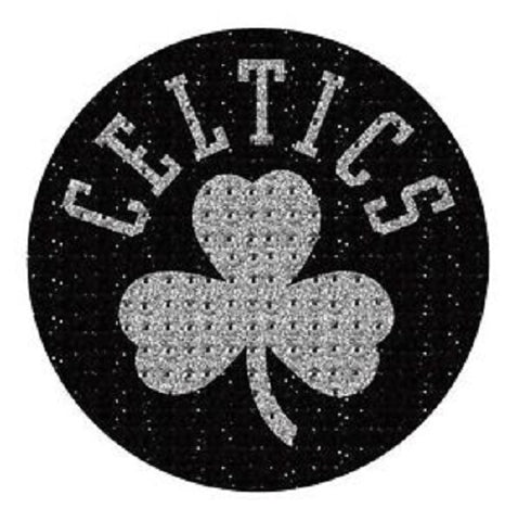 NBA Boston Celtics Bling Emblem Adhesive Decal By Team ProMark