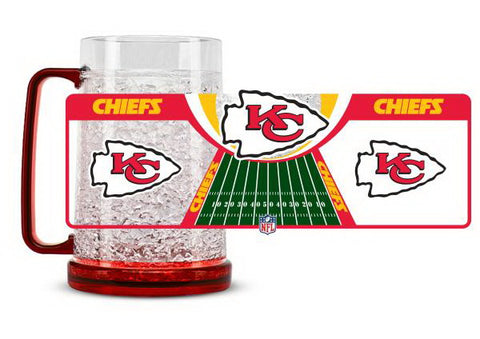 NFL Kansas City Chiefs 16oz Crystal Freezer Mug by Duck House