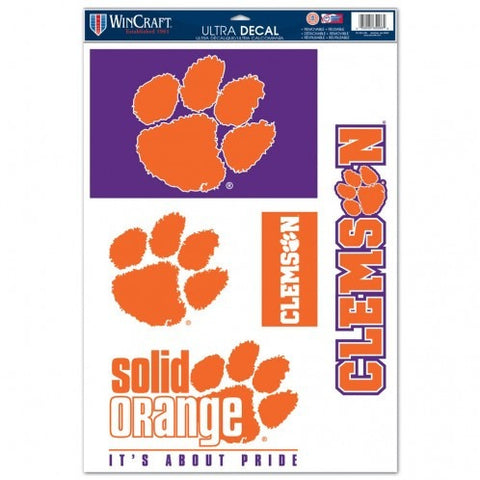 NCAA Clemson Tigers Ultra Decals Set of 5 By WINCRAFT