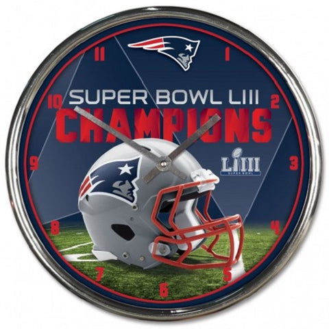 "New England Patriots Super Bowl LIII CHAMPIONS 12"" Diameter Wall Clock"