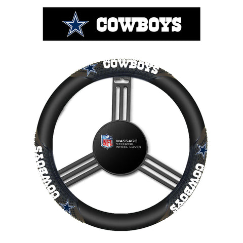 NFL Dallas Cowboys Massage Steering Wheel Cover By Fremont Die