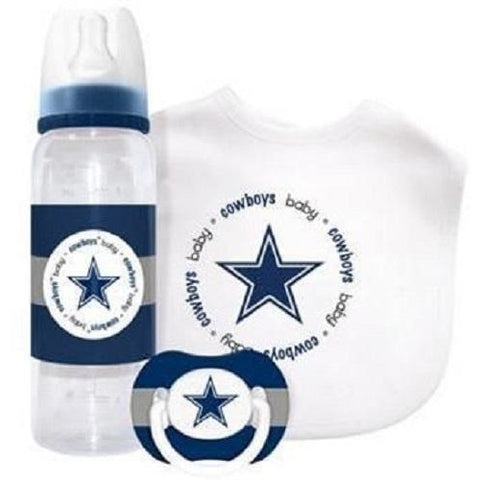 NFL Dallas Cowboys Gift Set Bottle Bib Pacifier by baby fanatic