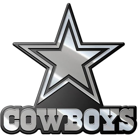 NFL Dallas Cowboys 3-D Chrome Heavy Metal Emblem By Team ProMark