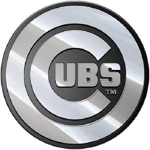 MLB Chicago Cubs 3-D Chrome Heavy Metal Emblem By Team ProMark