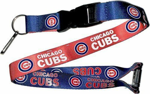 MLB Chicago Cubs Reversible Lanyard Keychain 23″ Long 3/4″ Wide by Aminco