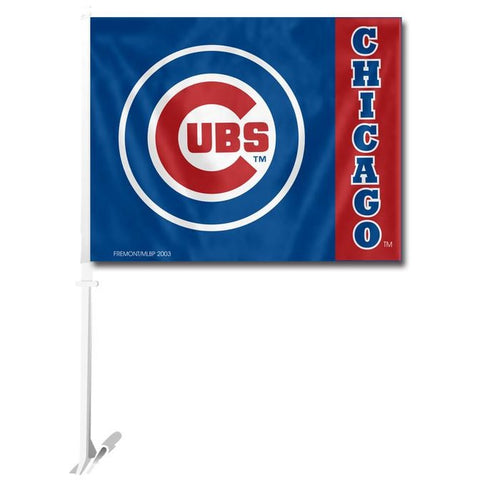MLB Logo Chicago Cubs Window Car Flag RICO or Fremont Die