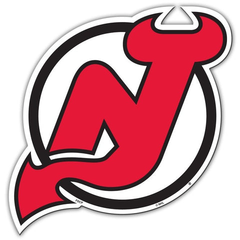 NHL 12 INCH AUTO MAGNET NEW JERSEY DEVILS LOGO