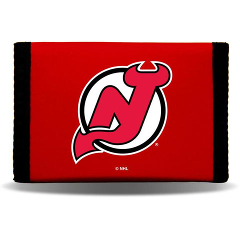 NHL New Jersey Devils Tri-fold Nylon Wallet with Printed Logo