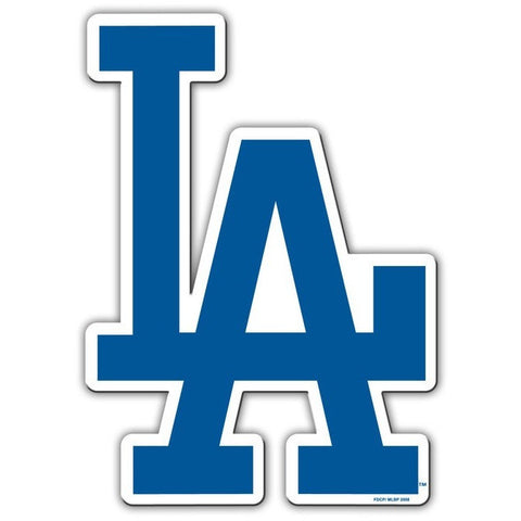 MLB 12 INCH AUTO MAGNET LOS ANGELES DODGERS CURRENT LOGO