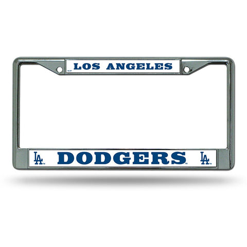 MLB Chrome License Plate Frame Los Angeles Dodgers Thick Raised Letters