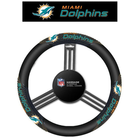 NFL Miami Dolphins Massage Steering Wheel Cover By Fremont Die