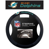 NFL POLY-SUEDE MESH STEERING WHEEL COVER MIAMI DOLPHINS CURRENT LOGO