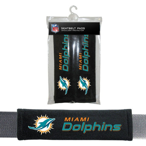 NFL Miami Dolphins Velour Seat Belt Pads 2 Pack by Fremont Die