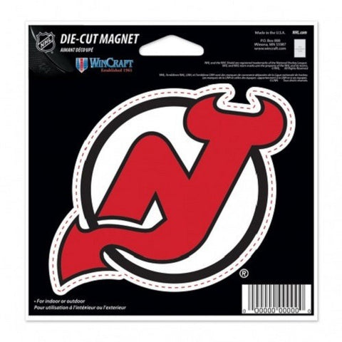 NHL New Jersey Devils Current Logo 4 inch Auto Magnet by WinCraft