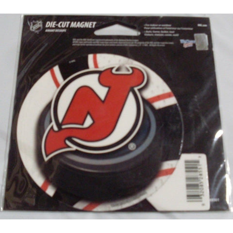 NHL New Jersey Devils Round Puck Style 4 inch Auto Magnet by WinCraft