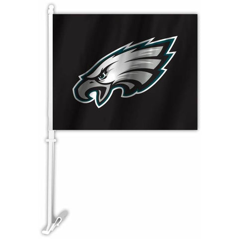 NFL Philadelphia Eagles Logo on Black Car Flag By Fremont Die