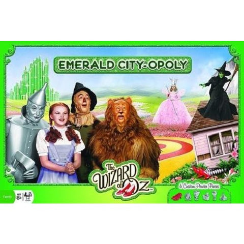 The Wizard of Oz Emerald City-Opoly Monopoly Jr Board Game Masterpieces Puzzles