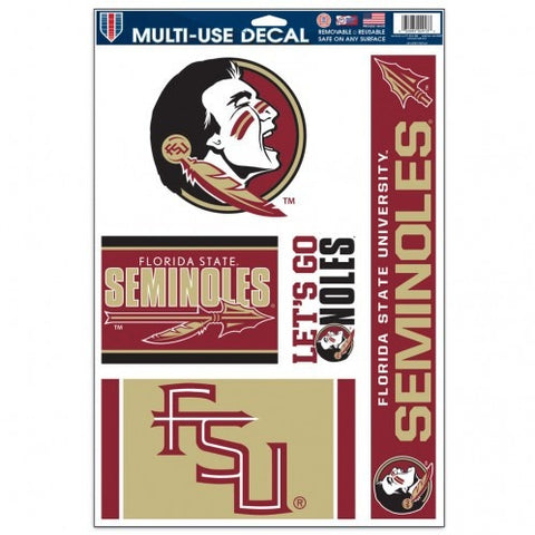 NCAA Florida State Seminoles Ultra Decals Set of 5 By WINCRAFT