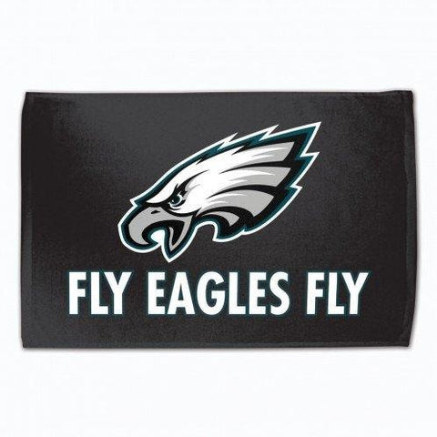 "Philadelphia Eagles FLY EAGLES FLY Black Rally Fan Towel 15"" by 25"""