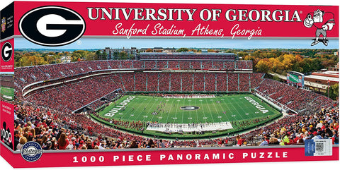 NCAA Georgia Bulldogs Panoramic 1000pc Puzzle by Masterpieces Puzzles
