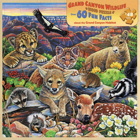 Grand Canyon Wildlife Wood Jigsaw Puzzle 48 pc Masterpieces Puzzle