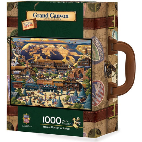Grand Canyon 1000 pc Jigsaw Puzzle in Travel Suitcase by Masterpieces Puzzles
