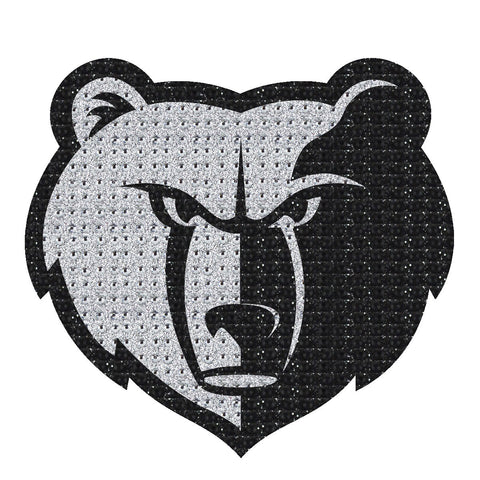 NBA Memphis Grizzlies Bling Emblem Adhesive Decal By Team ProMark